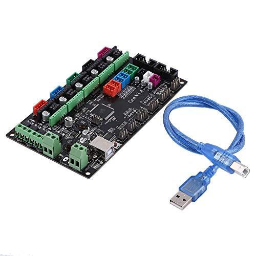 MOSFET Tube Controlador de placa base integrado RAMPS 1.4 2560 Placa base Mini con cable USB DC 12V-24V Kit de impresora 3D Módulo de placa de control para RepRap Shield