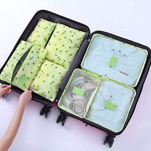 XIEJIA Aufbewahrungsbox 7Stücke / Set Langlebige Reisetasche Tragbare Toilettenartikel Ordentlicher Organizer-Beutel Koffer Kleidung Unterwäsche Schuhbehälter, O.