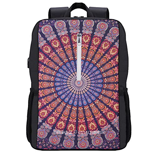 Mandala Cool - Mochila para estudiantes, para escuela, viajes o trabajo, con paquete para portátiles de 15,6 pulgadas