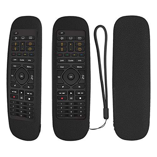 Funda protectora de silicona para mando a distancia Logitech Harmony Companion todo en uno, a prueba de golpes, lavable, con bucle (negro)