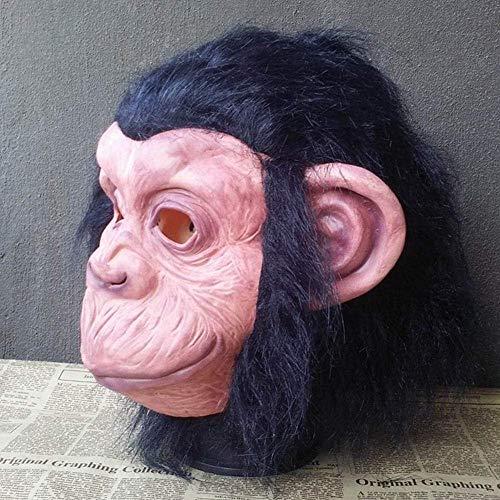 XIN New Event Party Cosplay Maschera decorativa per animali Orangutan Orecchio grande Scimmia Lattice Maschera a testa piena Scimmia Maschera divertente
