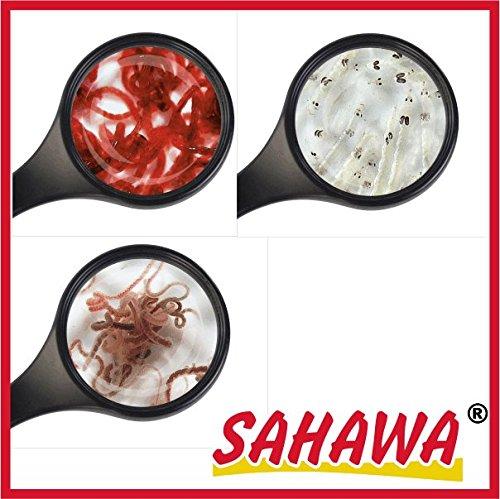 SAHAWA Lebendfutter Fische: 10 Beutel 45 ml =4x roteMückenlarve + 4x weiße Mückenlarven+2x Tubifex