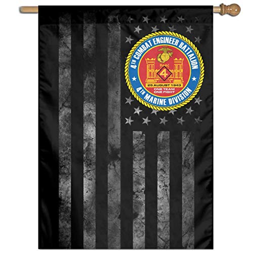 Garden Flag Welcomes Your House Logo Outdoor Decoration House and Garden- 4th Combat Engineer Battalion