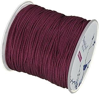 My-Bead 90m Nylonband Kordel 1mm weinrot wasserfest Nylonschnur Top Qualität Schmuckherstellung basteln DIY Grundpreis 0.13 Cent je Meter