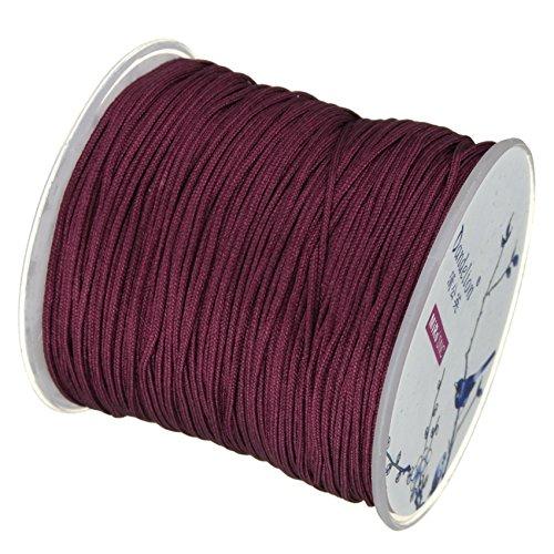 My-Bead 90m Nylonband Kordel 1mm weinrot wasserfest Nylonschnur Top Qualität Schmuckherstellung basteln DIY