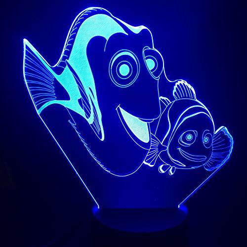 Lampe Illusion, Acrylique 3D Histoire Sous-Marine De Disney Princess Under Light, Lumière De Nuit À Del Dégradé Tactile De 7 Couleurs