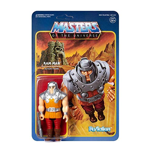 SUPER7 Ram Man Orange Heman Masters of The Universe Reaction Figura de acción