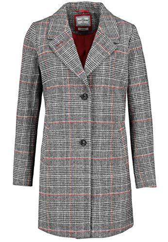 Eight2Nine Damen Business Mantel im Karo Design kariert Dark-red XL
