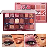 18 colors Eyeshadow Palette Naked Eyeshadow Sweatproof Makeup Set, Matte Glitter Pressed All Highly Pigmented Blending Powder, Natural Velvet Texture Eye Shadow Kit Perfect For Woman & Girl