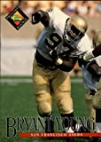 1994 Pro Line Live Football Rookie Card #334 Bryant Young. rookie card picture