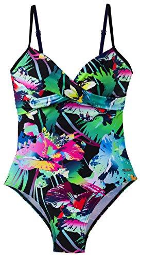 etirel Damen Marinna Tropical Badeanzug, Mehrfarbig, 44B