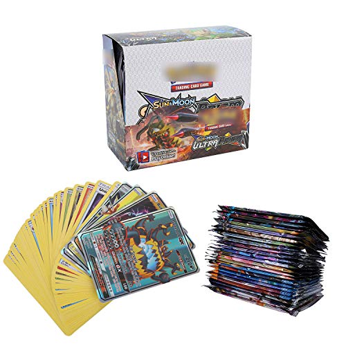 YNK 324 Stücke Sack Karten, Sammelkarten, Spiel Karten, 36GX Karten, Sun & Moon Series und Ultra Prism Series