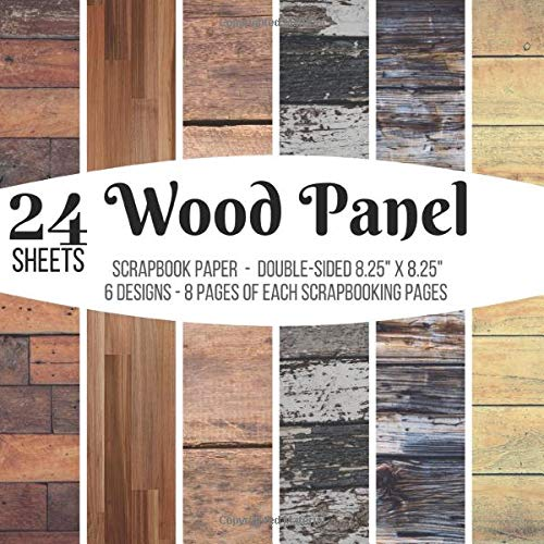 Wood Panel Scrapbook Paper Double Sided Scrapbooking Pages 24 Sheet Pad For Decorative Wood Grain Papers Crafts Backgrounds Stamp Making