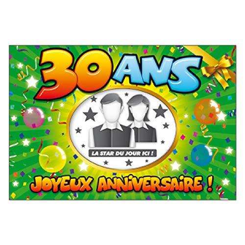 Album photo Souvenir personnalisable spécial anniversaire 30 ans