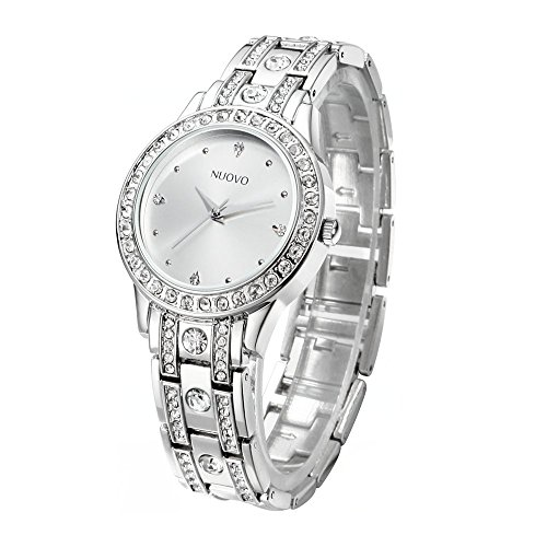 NUOVO Damen Uhr Analog Quarz mit Edelstahl Armband ZSH149018-1 Diamant