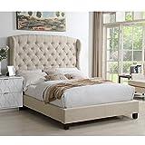 Rosevera Ralls Panel Bed, King, Beige
