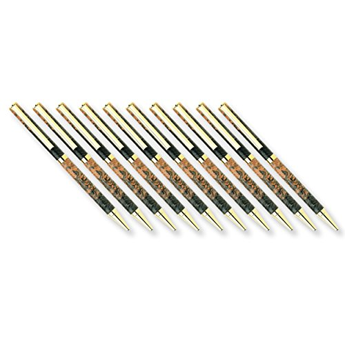 Woodturning Project Kit, Slim Style Cobalt Gold Solid Clip Ballpoint Pen, 10pk