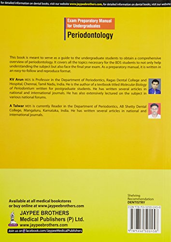 Exam Preparatory Manual For Undergraduates Periodontology