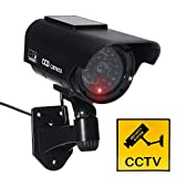 JUSTOP Dummy CCTV Camera Outdoor/Indoor Waterproof With Reality LED Light Solar Or Battery