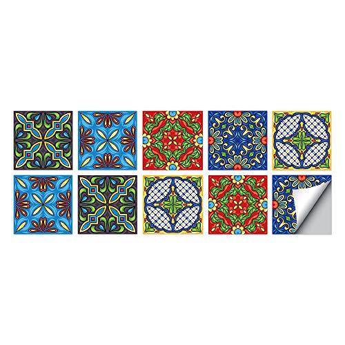 Pegatinas De Azulejos De Baño Y Cocina Espesadas Con Escaleras Calcomanías/biseles Traseros/pegatinas De Pared 15*15CM workid-P006