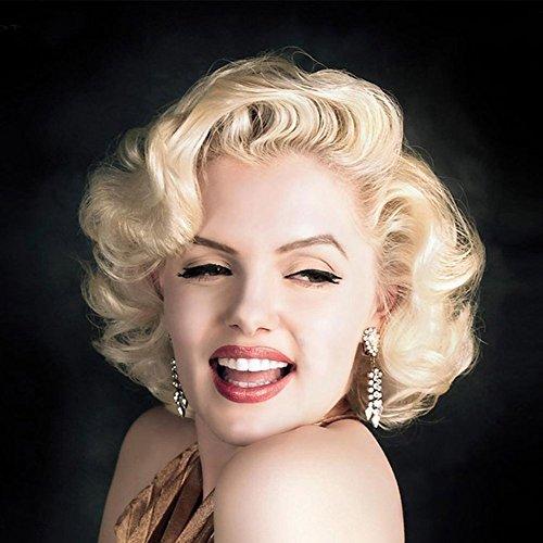 Goldene Marilyn Monroe Weibliche Kurze Lockige Haare Retro Perücke Mode Natürliche Volle Womens Cosplay Party