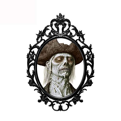 13 cm x 8,9 cm Halloween Terror Hexenspiegel 3D Auto Aufkleber Auto SUV Grafik Dekor Fenster Stoßstange Karosserie Aufkleber Wandaufkleber Schlafzimmer