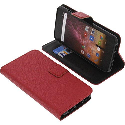 foto-kontor Tasche für Archos Core 50p Book Style rot Schutz Hülle Buch