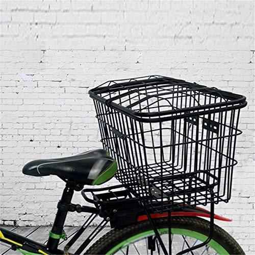 Fietsmand Draad Vaste gemonteerd drager Rack Fitting Bike Basket Grote Achterdraad Rack Fit Mand Staal Mesh voor huisdier vervoerder, Kruidenier Winkelen, Aktetas Commu
