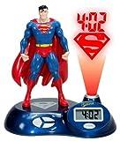 Superman 3D Sculpted Time Projection Alarm Clock