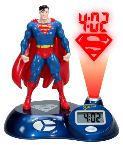 Zeon Superman 3D Sculpted Time Projection Alarm Clock