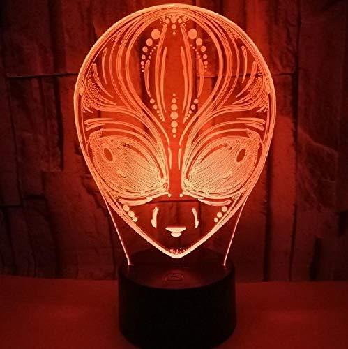 New Aliens 3D Lights Colorful Gift Atmósfera 3D Pequeño Regalo De Luz De Noche Led Para Luces De Habitación De Bebé