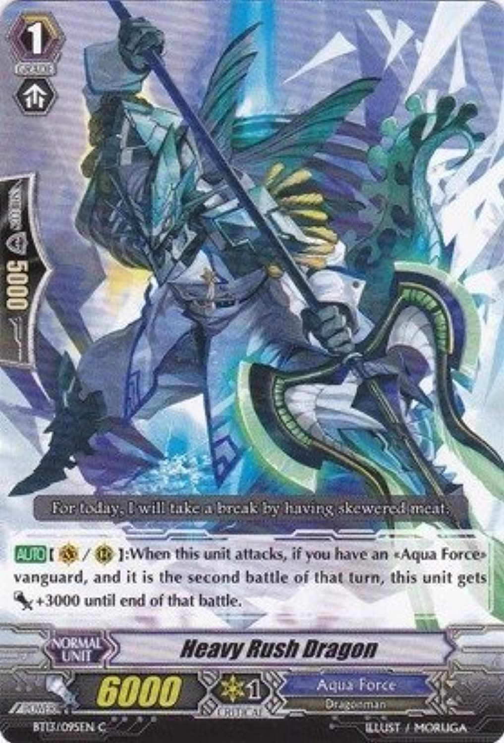 Cardfight   Vanguard TCG  Heavy Rush Dragon (BT13 095EN)  Catastrophic Outbreak by Bushiroad Inc.