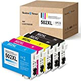 SWISS TONER Kompatibel für Epson 502XL 502 XL Tintenpatronen für Epson Expression Home XP-5100 XP-5105 XP-5115 Workforce WF-2860D WF-2860DWF WF-2865DWF Drucker,2Schwarz/Cyan/Magenta/Gelb