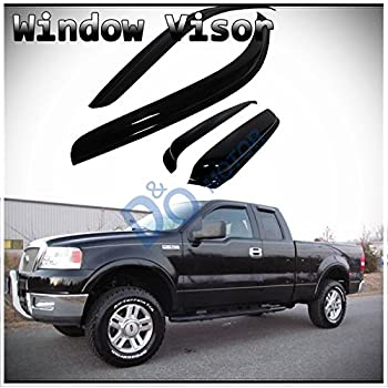 Amazon Com Deebior 4pcs For 01 03 F 150 Supercrew Cab Sun Rain Guard Vent Shade Window Visors Automotive