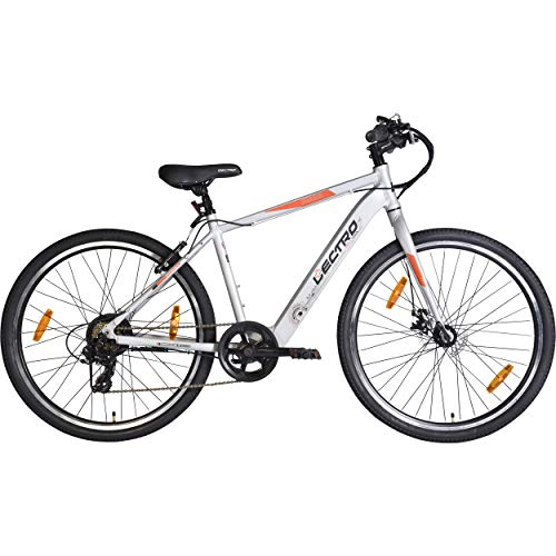 Lectro Kinza 27T 7 Speed Electric Cycle ( Light Grey )| 3 Level LED Display| Max Speed of 25kmph| 25-40 KMS Per Charge| 95% assembled