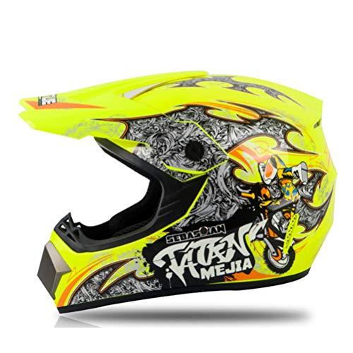 Casco de Motocross Combo Racing Motocross Casque Hors Route Casque Moto Casco Off-Road Casco de moto de dibujos animados con gafas