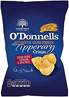 O' Donnells of Tipperary Handcooked Irish Cider Vinegar & Sea Salt Flavour Crisps (7 x 50g packs)