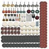 Docooler Schleifen Schleifen Polieren tragbare Drehwerkzeug Kit Schleifwerkzeug Kit Rad Zubehör Kit Set 347 Stücke