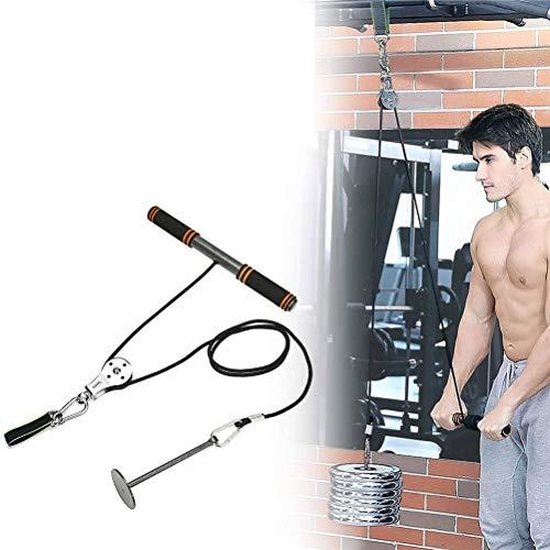 Urisgo Poleas Cable Máquina Sistema de fijación Brazo Tríceps Blaster Entrenamiento de Fuerza Manual Equipo de Entrenamiento de Gimnasio en casa Accesorio de Entrenamiento para Antebrazos