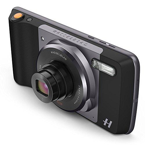 Moto Mod - Zoom Hasselblad (Zoom óptico 10x y Flash Xenon), Color Negro