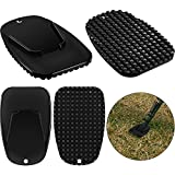 4 Pieces Motorcycle Kickstand Pad Motorcycle Stand Plate Motorcycle Foot Support Plate for Christmas Gift, Park Your Car in The Snow Slippery Road Hot Asphalt Road and Grass, Sand Ground, Black