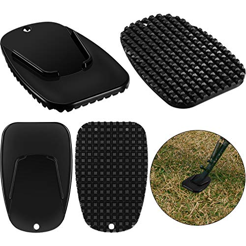 Stainessless Motorcycle Kickstand Extender Foot Side Stand Extension Pad Support Plate for Soft Ground Outdoor Parking Black Cute Motorcycle Bicycle Foot Support Shoes Motorcycle Kickstand Pad