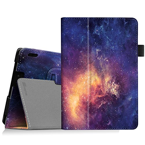 Fintie Folio Case for Fire HDX 7 - Slim Fit Leather Standing Protective Cover with Auto Sleep/Wake (Will only fit Kindle Fire HDX 7' 2013), Galaxy