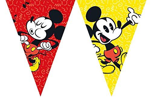 2,3m Wimpelkette * Mickey Mouse Deko für Kindergeburtstag oder Mottoparty // Kinder Geburtstag Motto Party Micky Maus Flag Banner Girlande