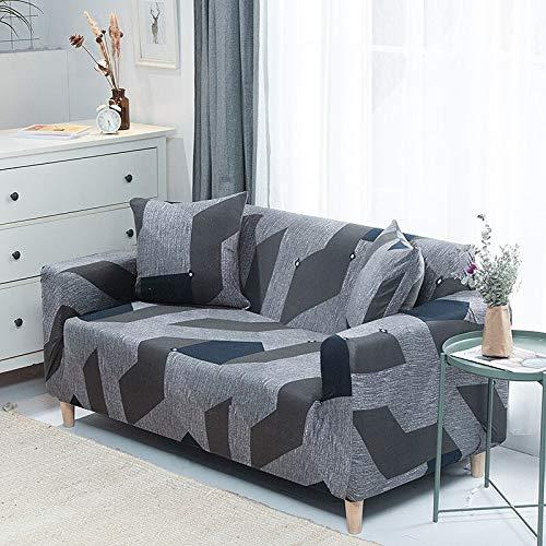 WXQY Funda de sofá elástica Funda de sofá elástica elástica Fractal para Sala de Estar Funda de sofá en Forma de L Funda de sillón, Funda de sofá A11 4 plazas