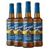 Torani Sugar Free Syrup, Classic Caramel, 25.4 Oz, Pack of 4
