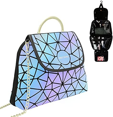 Hanging Toiletry Bag for Women, Travel Makeup Bag for Girls Water-resistant Cosmetic Bags Travel Organizer bag for Toiletries, Make Up, Shampoo, Cosmetics, Brushes