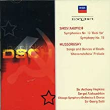 Shostakovich: Sym Nos 13 & 15 / Mussorgsky: Songs by ALEKSASHKIN / CHICAGO SYM ORCH / SOLTI (2007-02-12)