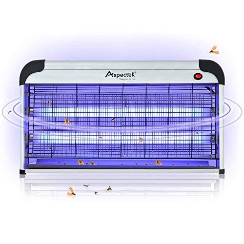 ASPECTEK Lampe UV Tue-Mouches Destructeur d' Insectes Electrique Tue...