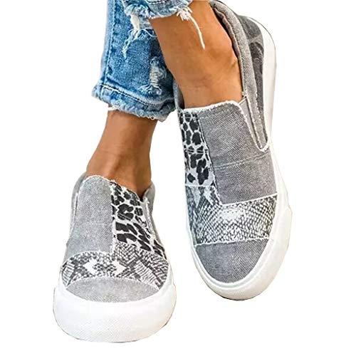 UMore Zapatos de Cordones Derby Mujer Mocasines para Mujer Loafers Casuales Loafers de Cuero Zapato Plano Zapatos de Conducción Cómodos